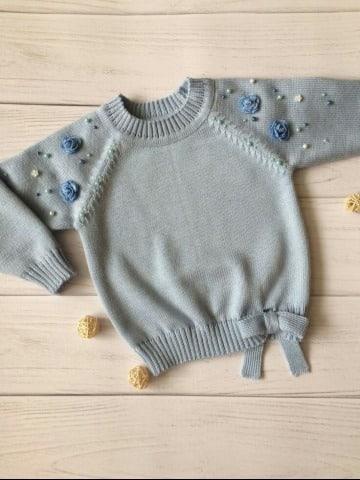 como hacer un sueter tejido para niña paso a paso