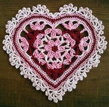 como tejer corazones al crochet faciles
