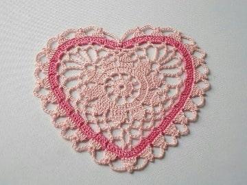 imagenes de como tejer corazones al crochet