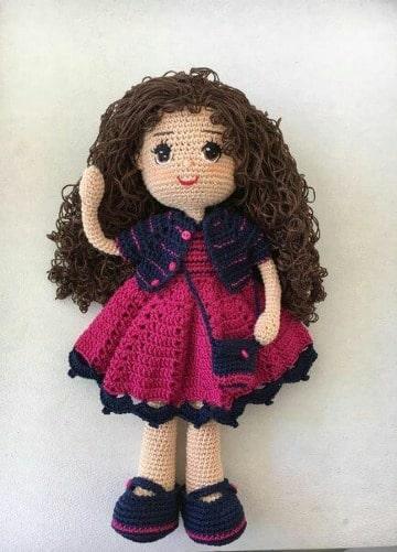 imagenes de como tejer muñecas a crochet