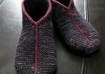 4 modelos geniales de pantuflas tejidas a dos agujas