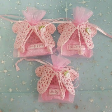 miniaturas en crochet para baby shower de niña