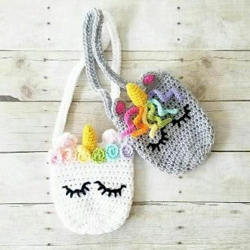 modelos de carteras tejidas a crochet para niña