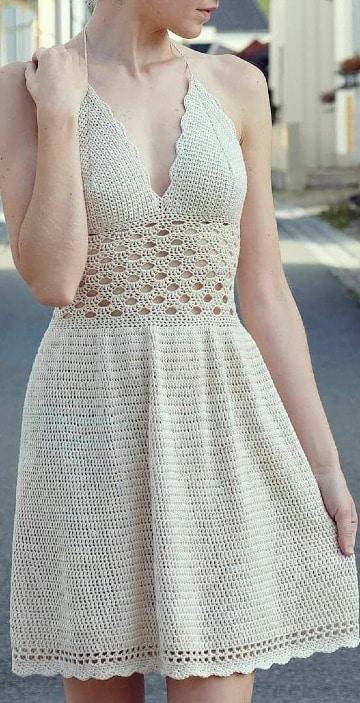 modelos de vestidos a crochet para mujer