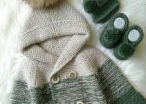 Hermosos saquitos tejidos para bebe de 3 a 6 meses
