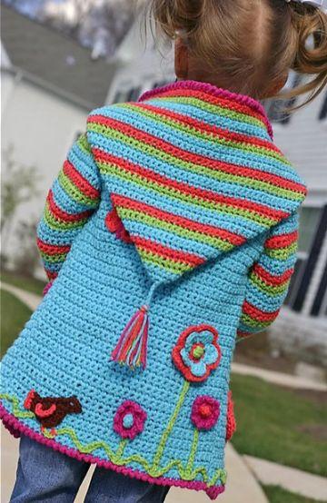 chalecos y chompas tejidas para niñas