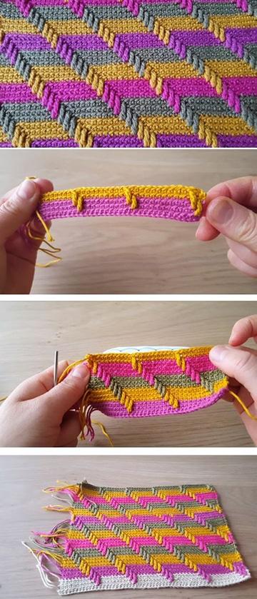 colección de puntos tejidos a crochet paso a paso