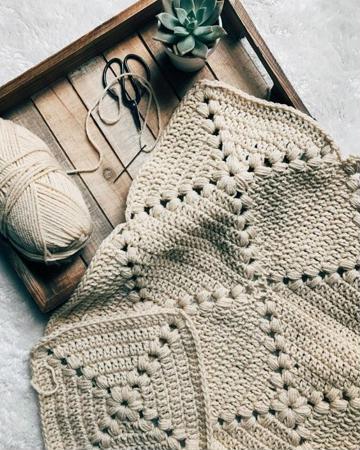 como hacer cuadros tejidos a crochet para colchas