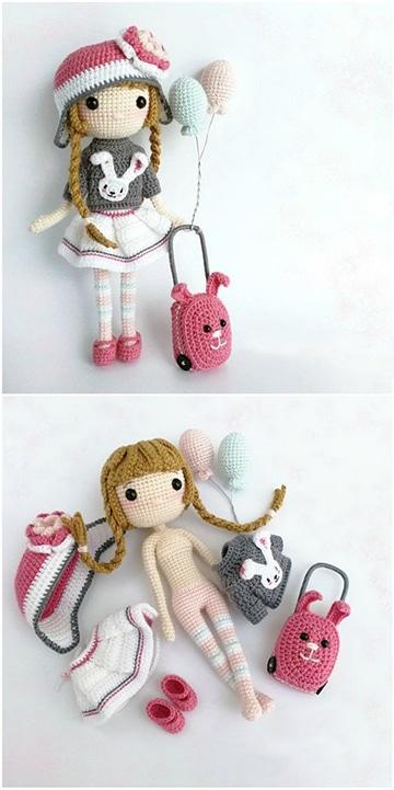 como hacer muñecas tejidas a crochet