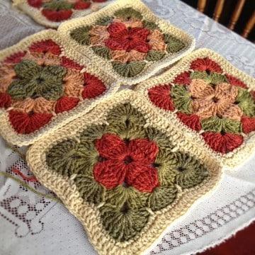 como hacer pastillas a crochet cuadradas
