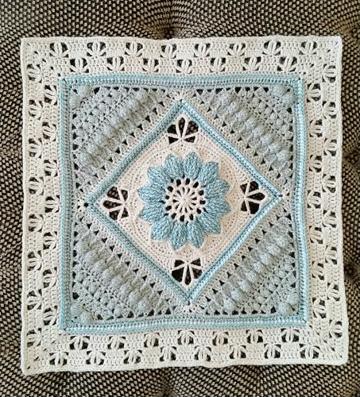 como hacer tapetes a crochet cuadrados