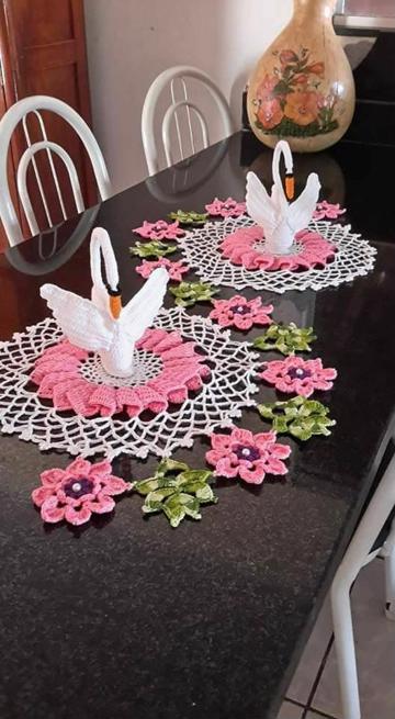 como hacer tapetes a crochet de flores