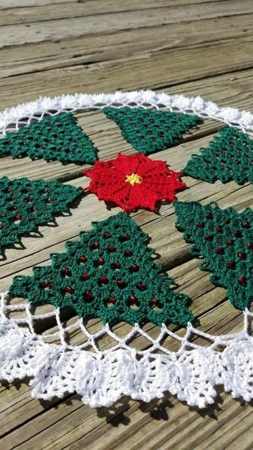 como hacer tapetes a crochet de navidad facil