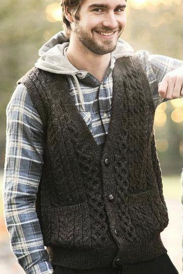 como tejer un chaleco a crochet con botones para hombre