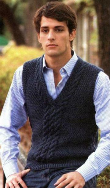 como tejer un chaleco a crochet sin botones para hombre