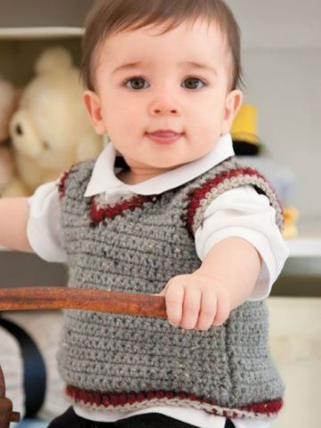 como tejer un chaleco para niño para principiantes