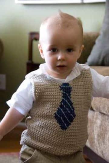 como tejer un chaleco para niño paso a paso