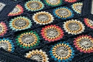 4 ideas para cuadros tejidos a crochet para colchas