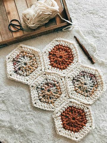 cuadros tejidos a crochet para colchas cubrecamas