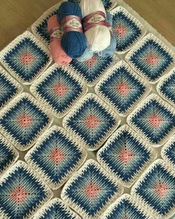 cuadros tejidos a crochet para colchas para bebe
