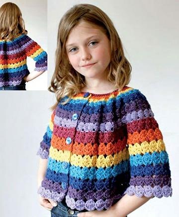 fotos de chompas tejidas para niñas