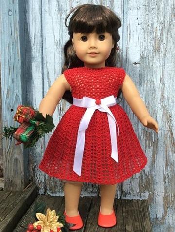 imagenes de vestidos de muñecas tejidas a crochet
