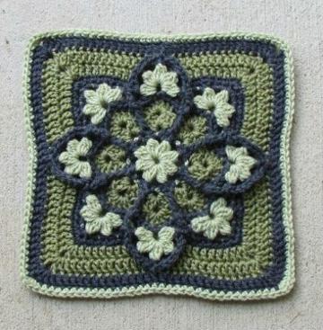 pastillas a crochet cuadradas de flores