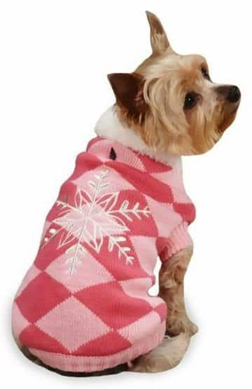 ropa navideña para perros con patrones