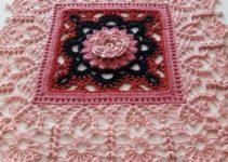 Tapetes a crochet cuadrados para decorar 2 cuartos