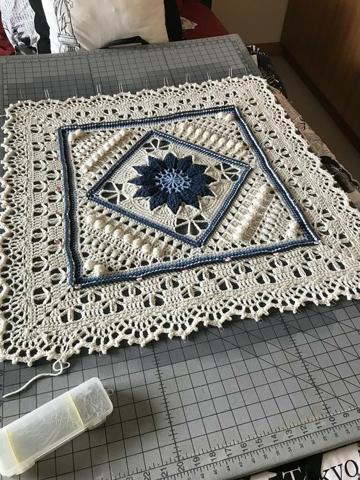 tapetes a crochet cuadrados paso a paso