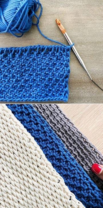 tipos de puntos tejidos a crochet paso a paso