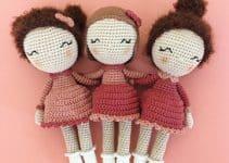 3 bonitos detalles en muñecas tejidas a crochet