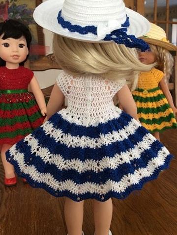 vestidos de muñecas tejidas a crochet paso a paso