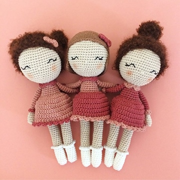 vestidos de muñecas tejidas a crochet