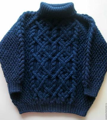 chompas de lana para niños con cuello