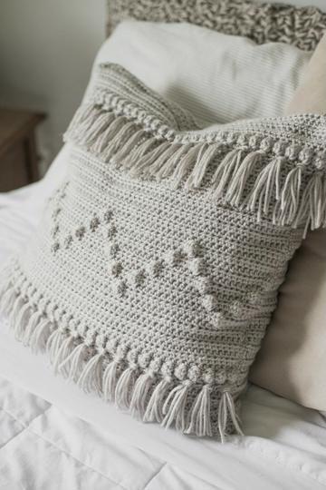 como hacer cojines a crochet cuadrados