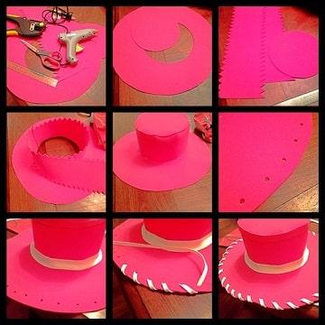 como hacer un sombrero con foami