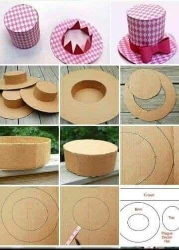 como hacer un sombrero facil