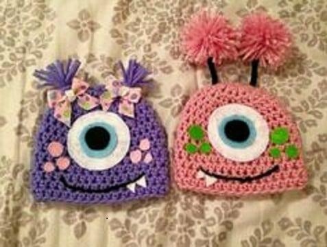 diseños de gorros tejidos para bebe