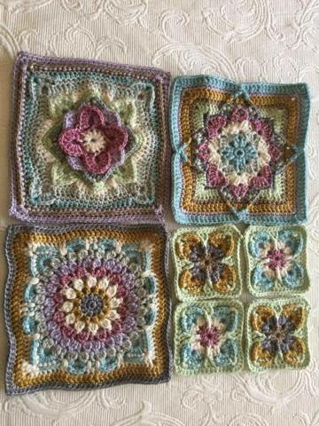 diseños para pastillas tejidas a crochet para colchas