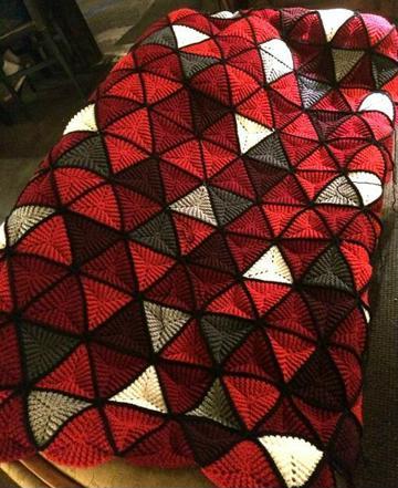 muestras de colchas a crochet tejidos