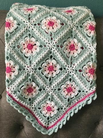 pastillas tejidas a crochet para colchas cubrecama