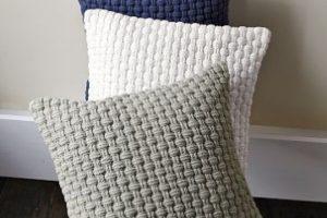 7 ideas y pasos para hacer cojines a crochet cuadrados