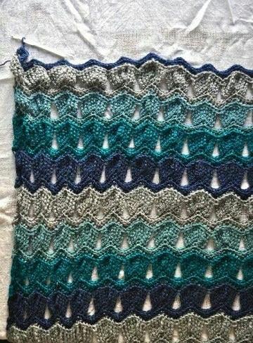 puntos calados a crochet para chal
