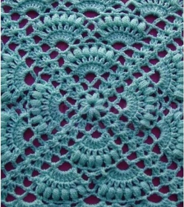 puntos calados a crochet patron