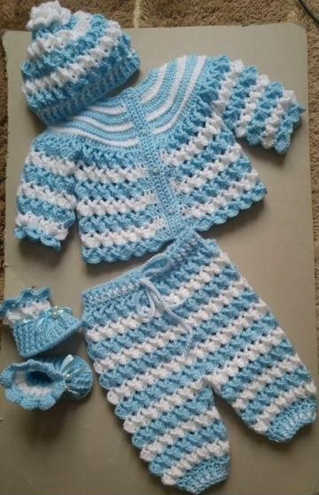 ropones para bebes tejidos conjuntos