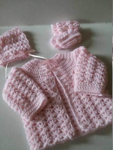 ropones para bebes tejidos niñas