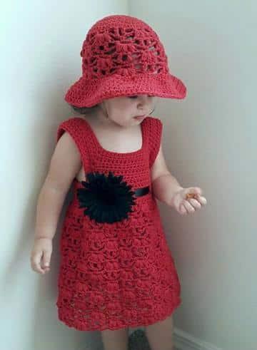 tutorial vestidos tejidos a crochet para niña
