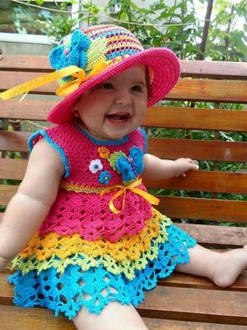 vestidos tejidos a crochet para niña paso a paso
