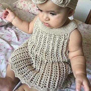 vestidos tejidos para bebe paso a paso con patrones